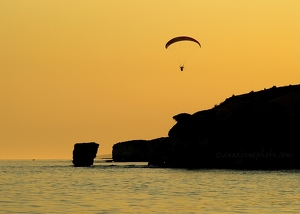 Sunset, Sea & Parachute