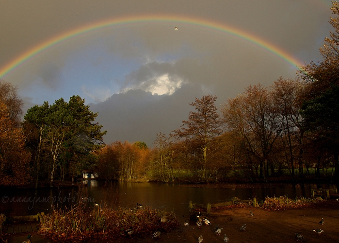 Calderstones Lake & Rainbow - 20081204-calderstones-lake-and-rainbow.jpg - Anna Nielsson