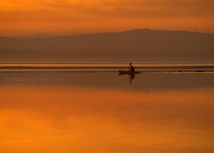 Kayak at Sunset - 20090128-sunset-kayak-west-kirby.jpg - Anna Nielsson
