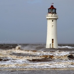 New Brighton Lighthouse & Waves - Anna Nielsson