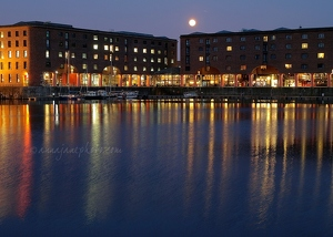 Albert Dock & Moon