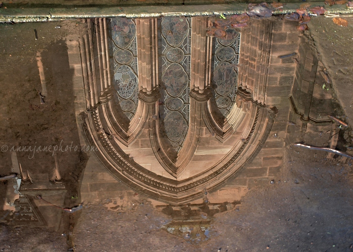 Chester Cathedral Reflection - 20130115-chester-cathedral-window-reflection.jpg - Anna Nielsson