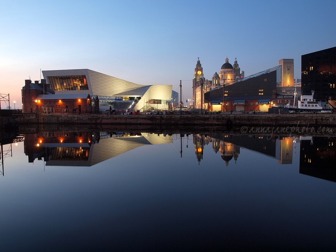 Museum of Liverpool & Pier Head - 20130219-museum-of-liverpool-pier-head-reflection.jpg - Anna Nielsson