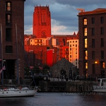 Cathedral & Albert Dock at Sunset - Anna Nielsson
