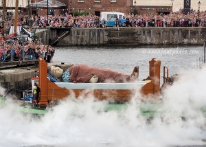 Grandmother Giant Leaving Liverpool
