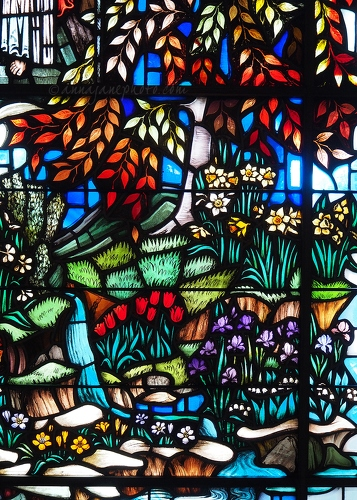 Spring Grove Cemetery Stained Glass Flowers - 20150623-spring-grove-cemetery-stained-glass-flowers.jpg - Anna Nielsson