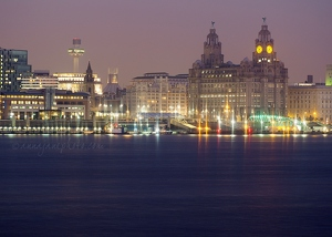 Liverpool Waterfront at Dusk