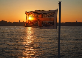 Ferry Flag at Sunset