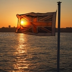 Ferry Flag at Sunset - Anna Nielsson