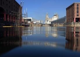 Zebu & Pier Head from Albert Dock
