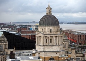 Port of Liverpool from Liver Building Roof