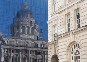 Port of Liverpool Building Reflection