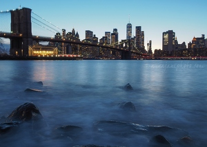 Dusk at Brooklyn Bridge Park