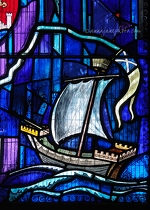 Stained Glass Ship