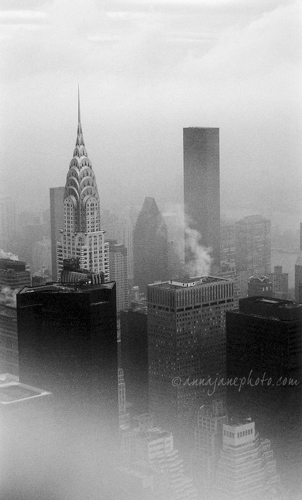 Foggy New York City - 20040426-foggy-manhattan.jpg - Anna Nielsson