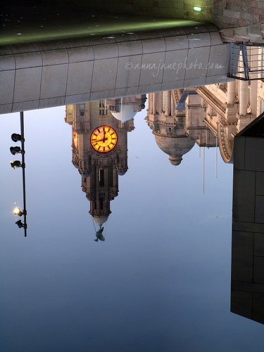 Liver Building Canal Reflection - 20130219-liver-building-canal-reflection.jpg - Anna Nielsson