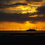 Crosby Sunset, Ferry & Wind Farm - Anna Nielsson