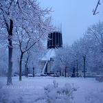 Catholic Cathedral In Snow - Anna Nielsson