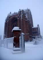 Liverpool Cathedral in Snow