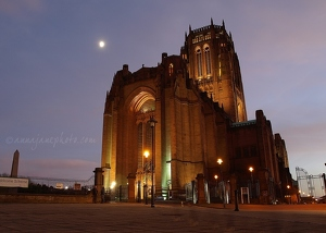 Anglican Cathedral & Moon