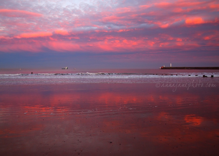 Aberdeen Beach Sunset Reflections - 20131130-aberdeen-beach-sunset.jpg - Anna Nielsson