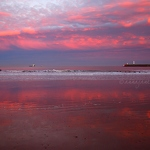 Aberdeen Beach Sunset Reflections - Anna Nielsson