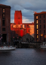 Cathedral & Albert Dock at Sunset