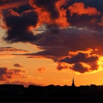 Sunset Over Birkenhead - Anna Nielsson