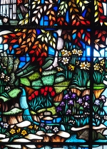 Spring Grove Cemetery Stained Glass Flowers