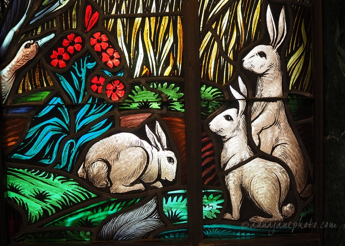 Stained Glass Rabbits - 20150623-spring-grove-cemetery-stained-glass-rabbits.jpg - Anna Nielsson