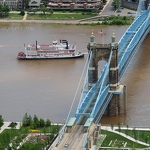 Belle of Cincinnati & John A Roebling Suspension Bridge - Anna Nielsson