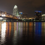 Cincinnati & Ohio River at Night - Anna Nielsson