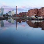 Canning Dock Sunset Panorama - Anna Nielsson