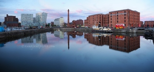 Canning Dock Sunset Panorama